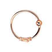 Micro Piercing Ring mit kleiner Seilwindung und Drahtmuster rosegold