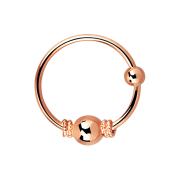 Micro Piercing Ring mit kleiner Seilwindung eng und 3 mm...