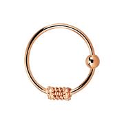Micro Piercing Ring mit Seilwindung rosegold