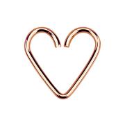 Micro Piercing Ring Herz rosegold