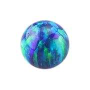 Micro Kugel Opal blau