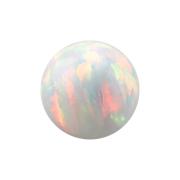 Kugel Opal weiss