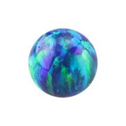 Kugel Opal blau