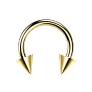 Micro Circular Barbell vergoldet mit zwei Cones