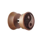 Fake Plug aus Sawo Holz mit Yin Yang
