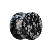 Flared Plug aus Schneeflocken Obsidian