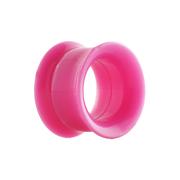 Flared Tunnel pink mit Schraubewinde