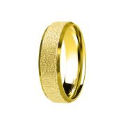 Ring vergoldet poliert und mittig gesprenkelt