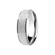 Ring silber poliert und mittig gesprenkelt