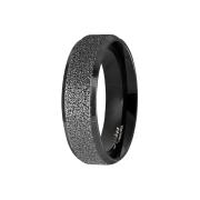 Ring schwarz poliert und mittig gesprenkelt