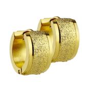Ohrring zum Klappen vergoldet und mittig gesprenkelt