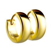 Ohrring zum Klappen abgerundet vergoldet