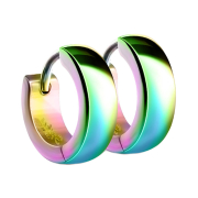 Ohrring zum Klappen abgerundet farbig