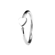Micro Piercing Ring mit Herz silber