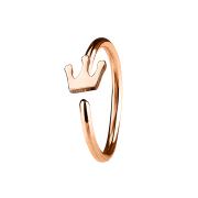 Micro Piercing Ring mit Krone rosegold