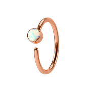 Micro Piercing Ring rosegold mit Opal weiss