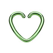 Micro Piercing Ring Herz Herz grün mit Titanium...