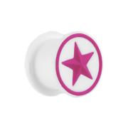 Plug weiss mit violetten Stern