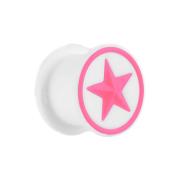 Plug weiss mit pinkem Stern