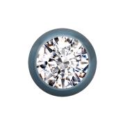 Kugel hellblau mit Kristall silber