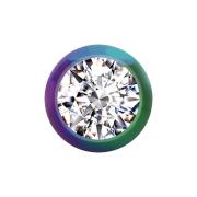 Kugel farbig mit Kristall silber