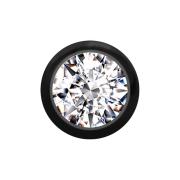 Kugel schwarz mit Kristall silber