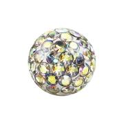 Micro Kristall Kugel multicolor mit Epoxy Schutzschicht