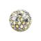 Kristall Kugel multicolor mit Epoxy Schutzschicht