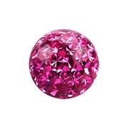 Kristall Kugel pink mit Epoxy Schutzschicht