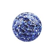 Kristall Kugel hellblau mit Epoxy Schutzschicht