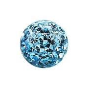 Kristall Kugel aqua mit Epoxy Schutzschicht