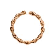 Micro Piercing Ring geflochten rosegold