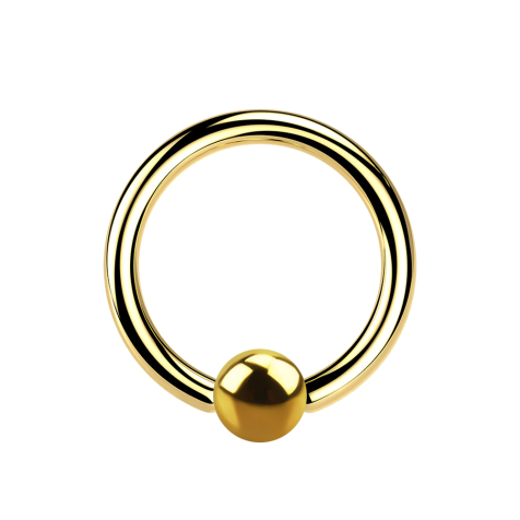 Micro Ball Closure Ring vergoldet