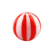 Kugel mit Twistet rot