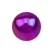 Kugel metallbeschichtet violett