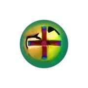 Dermal Anchor Kreuzschlitzkopf farbig