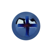 Dermal Anchor Kreuzschlitzkopf dunkelblau