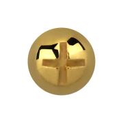 Dermal Anchor Kreuzschlitzkopf vergoldet