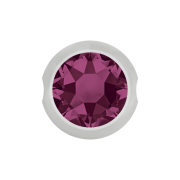 Ball Closure Kugel silber mit Kristall violett