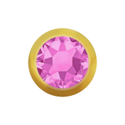 Kugel vergoldet mit Kristall pink