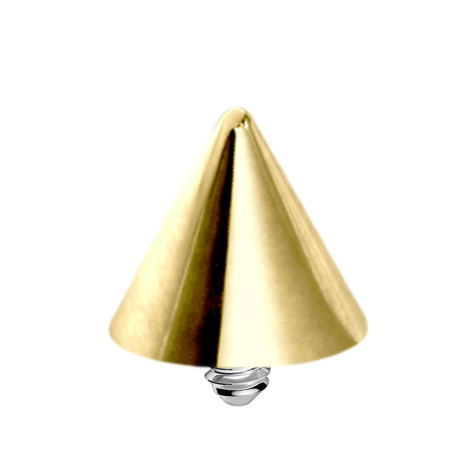Dermal Anchor Cone vergoldet