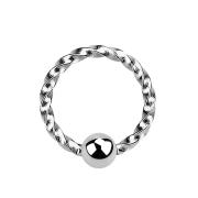 Micro Ball Closure Ring geflochten silber