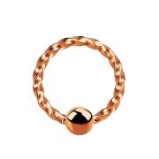 Micro Ball Closure Ring geflochten rosegold