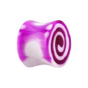 Flared Plug mit Wirbel pink
