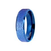 Ring blau poliert und mittig gesprenkelt