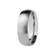 Ring silber gebürstet