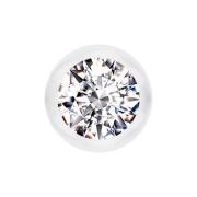 Micro Kugel transparent mit Kristall silber