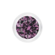 Micro Kugel transparent mit Kristall hellviolett