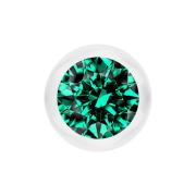 Micro Kugel transparent mit Kristall türkis