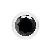 Micro Kugel transparent mit Kristall schwarz